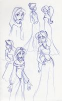 Jasmine Sketchbook Montage 2 by kuabci