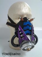 ''Carburant'' Cyber industrial rivethead gas mask by TwoHornsUnited