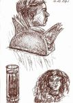 Brown pen sketches - 18.10.2015, part 1 by rana-kenobi