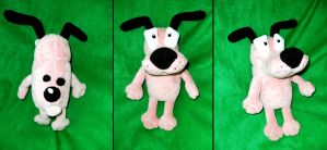 Courage the Cowardly Dog Plush by Shadottie