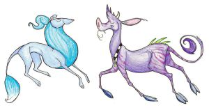 Blue Dog, Purple Cow by TheSolitarySandpiper