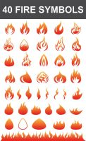 40 Fire Symbols by nadaimages