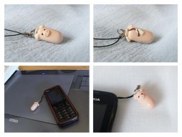 sausage fimo cell phone by Haidak