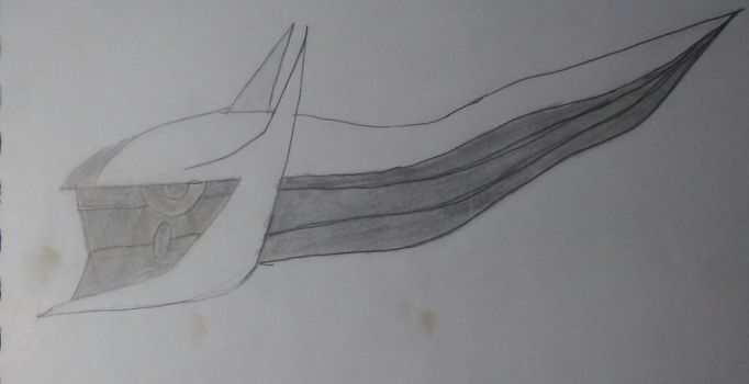 Arceus Head Drawing by MarthTheBlackLegend