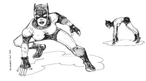 catfighter sketch by marcelopont