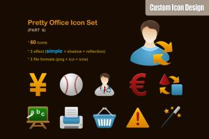 Pretty Office Icon Set part 6 by customicondesign
