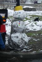 Truck Stop Snowman by archambers