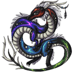 :CO: Rainbow nebula dragon pixel by DodoIcons