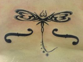Tribal Dragonfly Tattoo by hippieman1234