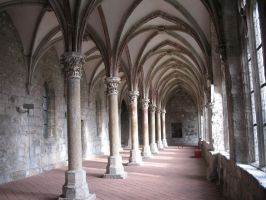 Cloister Ruins Germany  4 by nathies-stock