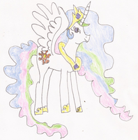 Princess Celestia (MLP) Drawing by SoraJayhawk77