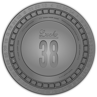 Fallout New Vegas Lucky 38 Casino platinum chip by JaggedGenius