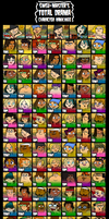 Total Drama Character Rankings (Pahkitew Update) by SWSU-Master