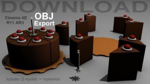 OBJ - Portal Cake Model by 100SeedlessPenguins