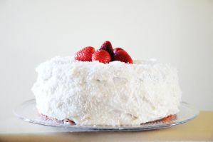 Strawberry Coconut Cake II by TantalizedBaker