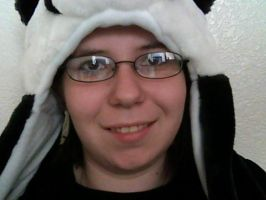 Me with my new panda hat by yaoilover998