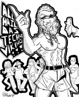 Techno Viking...Nuff Said (Ink) 9-23-15 by ManiacMcGee01