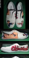 Ace Attorney Shoes W+E by oujou-chan