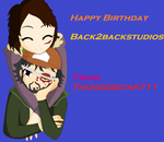 Late Gift: Happy Birthday Back2backstudios by Thunderstar711