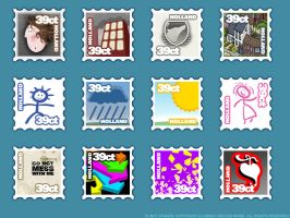 Funky Stamps by howling