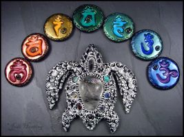 Turtle Totem and Chakra Runes by andromeda