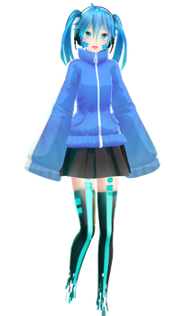 New MMD Ene Model by YYB + DL link by Vermilion333