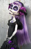 Monster High Custom Spectra Day of the Dead Bat by AdeCiroDesigns