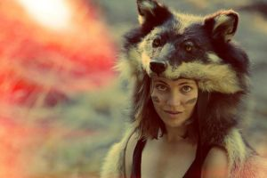 Teva the She-Wolf Headdress by NaturePunk