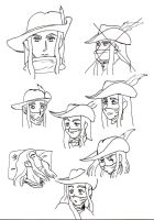 Red Mage faces by Takineko