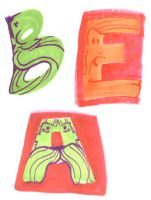 Letter Shaped Faces by yooki42