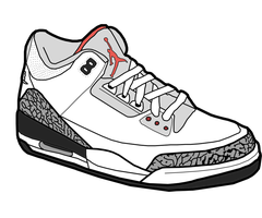 Jordan 3 'Fire Red' Sketch by MattisamazingPS