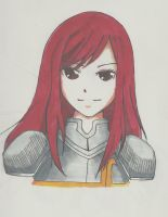 Coloured! Erza Scarlet by Frenzydaydreamer11