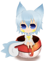.Pachirisu in a Cup. by lNeko-Hime