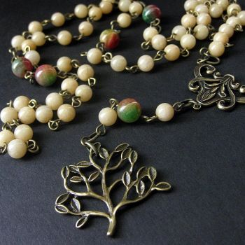 Nature Lover's Rosary Necklace by Gilliauna