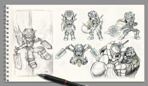 sketchs of XZ by AKK-STUDIO