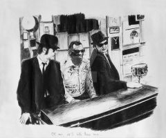 Blues Brothers -Ballpoint pen by Tomn