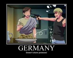 Germany DOESN'T share potatoes by MaraCroft3
