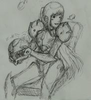 Samus takes a breather by PetervdToorn