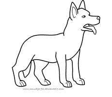 GSD Lineart for MS Paint by Nanurtalik