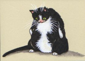 ACEO - LULUisms: If Tux Too Tight Don't Look Down by KootiesMom