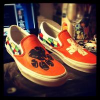 Ed Sheeran Hand Painted shoes by MonteyRoo