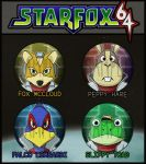 Star Fox 64 Badges by kappapillon