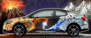 Scion tC - Fire and Ice by Chyga