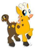 My little Girafarig by Cyclops-Cat