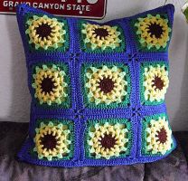 Grannys Pillow Sunflower by Scatharis