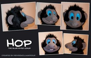 Hop the Sclater's lemur costume mask by Henrieke