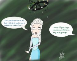 Elsa and Elphie-Frozen and Wicked crossover by KaybuscusCappius