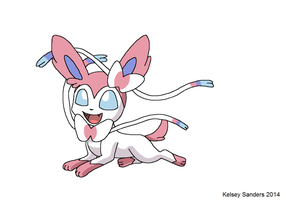 My Best Attempt at Drawing Sylveon by KelseyEdward