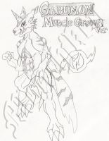 TF to Gabumon 3 -Mascle Grown by monchiken