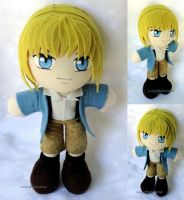 Commission, Mini Plushie Younger Armin Arlert by ThePlushieLady